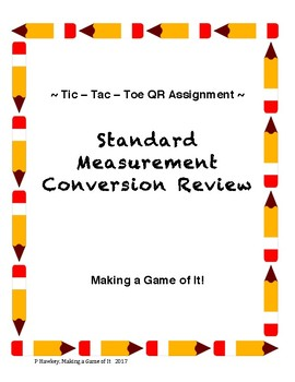 Tic Tac Toe QR Measurement Activity in two versions