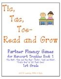Harcourt Trophies Book 1 ~ Tic, Tac, Toe - Read & Grow Fluency ~ 1st Grade