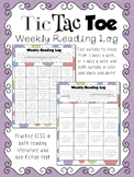 Tic-Tac-Toe Reading Log