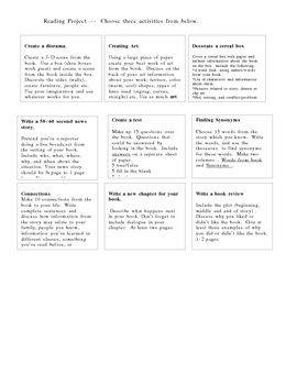 Tic Tac Toe- Reading Project