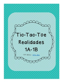 Tic Tac Toe (Realidades 1A-1B)
