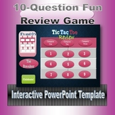 Tic Tac Toe Review Game Template