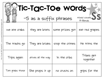 Tic-Tac-Toe S as a suffix