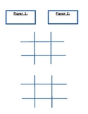 Tic- Tac- Toe Sight Words
