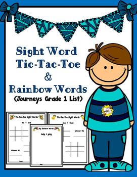 Sight Word Tic-Tac-Toe & Rainbow Words (Follows First Grad