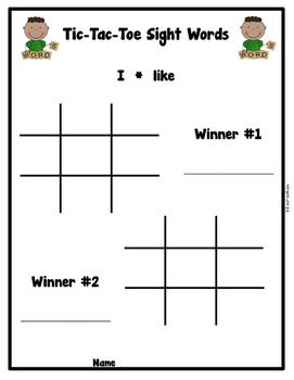 Sight Word Tic-Tac-Toe & Rainbow Words (Follows Kindergarten List from Journeys)
