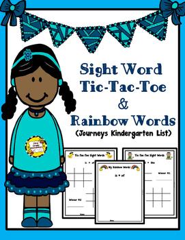 Sight Word Tic-Tac-Toe & Rainbow Words (Follows Kindergart