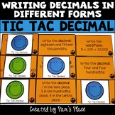 Decimal Tic Tac Toe: Write Decimals in Word Form, as Decimals, and as Fractions