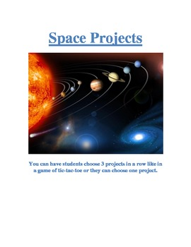 Tic Tac Toe Space and Planets Projects
