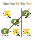 Tic Tac Toe Spelling Homework Sheet