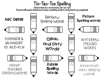 Tic-Tac-Toe Spelling