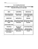 Tic Tac Toe Spelling Activity Board