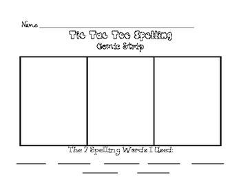 Tic Tac Toe Spelling - Complete Set!