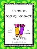 Tic-Tac-Toe Spelling Homework (All Year Long)