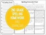 Tic-Tac-Toe Spelling Homework (freebie)