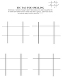 Tic-Tac-Toe Spelling Template