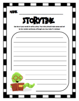 Tic-Tac-Toe Spelling/Word Study Packet