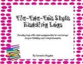 Tic-Tac-Toe Style Reading Logs for Deeper Thinking