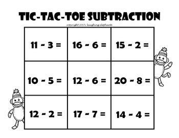 Tic-Tac-Toe Subtraction
