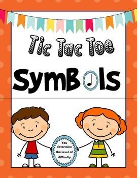 Music Symbols Games: Tic Tac Toe Symbols
