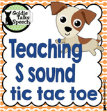 Tic Tac Toe Teaching S Sound | Speech Therapy | final ts sound
