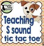 Tic Tac Toe Teaching S Sound | Speech Therapy | final ts sound