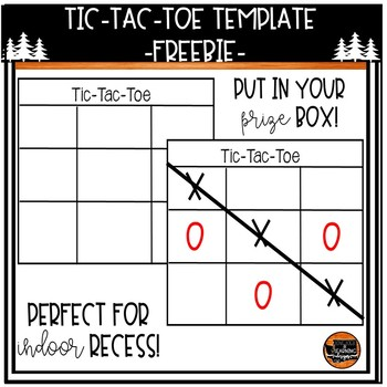 Tic Tac Toe Template By The Adventures Of A Pnw Teacher  Tpt
