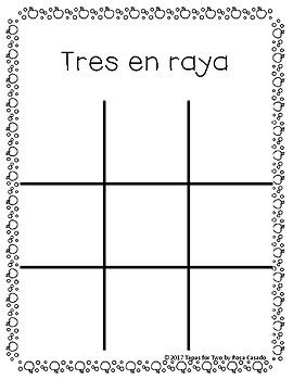 Tic Tac Toe Thanksgiving Theme Spanish and English
