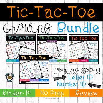 Tic Tac Toe: Print and Go Center bundle