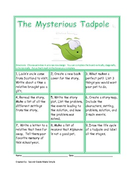 Tic-Tac-Toe The Mysterious Tadpole