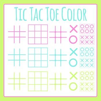 Tic Tac Toe / TicTacToe / Naughts and Crosses Color Templates / Clip Art Set
