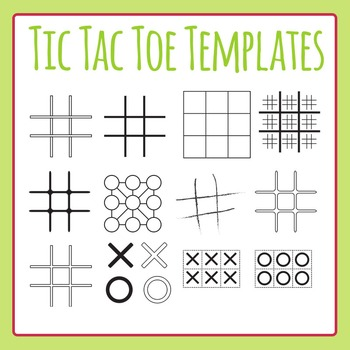 Tic Tac Toe Template Teaching Resources  Teachers Pay Teachers