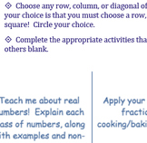 Tic-Tac-Toe, What Do You Know?! Differentiated Assessment (Numbers, Expressions)