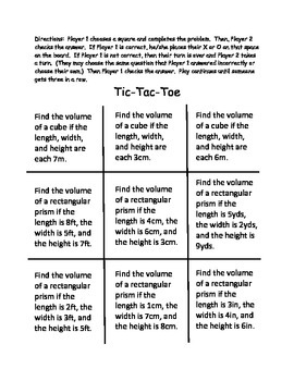 Tic-Tac-Toe: What's the Volume?