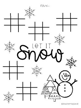 Tic Tac Toe Winter Game