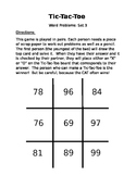 Tic Tac Toe Word Problem Game