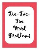 Tic-Tac-Toe Word Problems