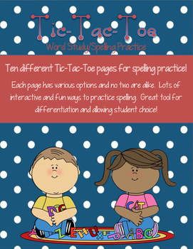 Tic-Tac-Toe Word Study Bundle!