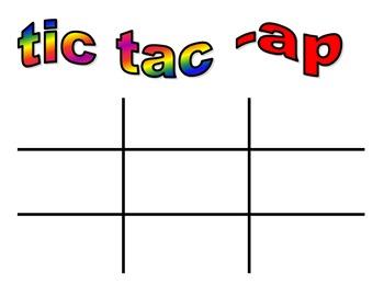 Word work: Tic Tac Toe Word Building full set