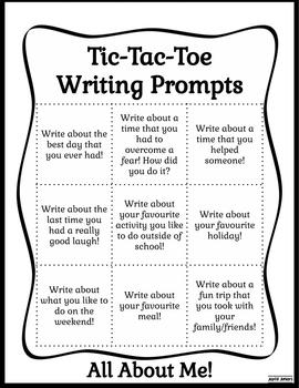 Tic-Tac-Toe Writing Prompts