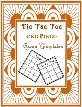 Tic Tac Toe and Bingo Game Templates for Homework Answers