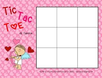 Tic Tac Toe de la St-Valentin (Valentine's Day Tic Tac Toe)