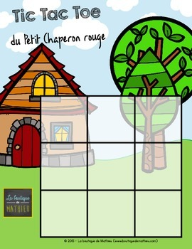 Tic Tac Toe du Petit Chaperon rouge (Morpion) - Little Red Riding Hood