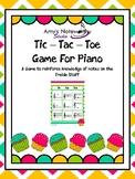 Tic Tac Toe for Piano! (Cup Cake Theme Freebie)