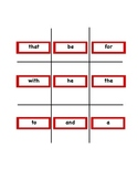 Tic-Tac-Toe for Sight Words!
