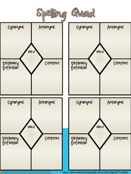 Tic Tac Toe for Spelling