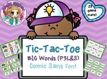 Tic Tac Toe or BINGO BIG Words