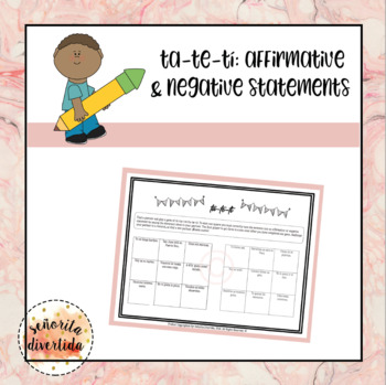 Tic Tac Toe with Affirmative & Negative Statements