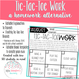 Tic-Tac-ToeWork- an alternative to homework