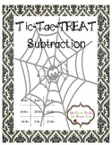 Tic Tac Treat Subtraction Freebie